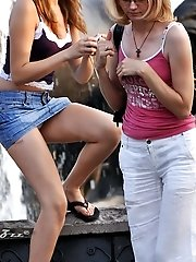 12 pictures - Girls fool around on upskirt pics in voyeur upskirt free photo gallery from UpskirtCollection.com